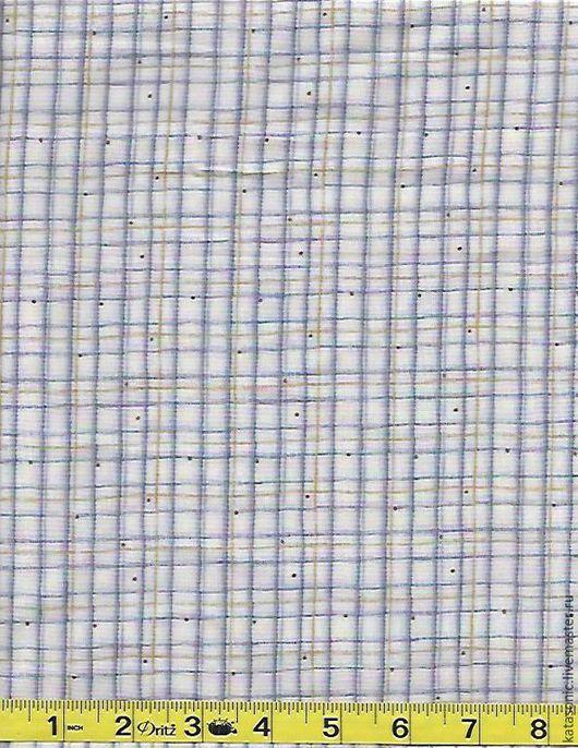 Шитье ручной работы. Ярмарка Мастеров - ручная работа. Купить 1065 Остаток. Клеточка. Американская ткань. Handmade. Голубой