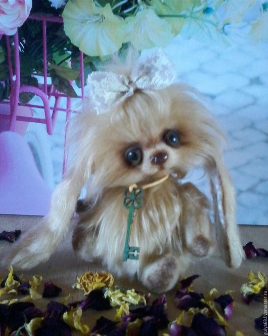 """Мишки Тедди ручной работы. Ярмарка Мастеров - ручная работа. Купить Зая """"Карамелька"""". Handmade. Интерьерная игрушка, искусственный мех"""