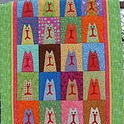 Для дома и интерьера ручной работы. Ярмарка Мастеров - ручная работа Детское лоскутное одеяло Симпатяги.... Handmade.