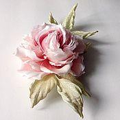 Украшения ручной работы. Ярмарка Мастеров - ручная работа роза из японского шелка Летисия (счастье). Handmade.