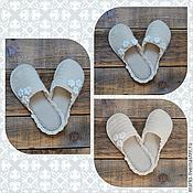 """Обувь ручной работы. Ярмарка Мастеров - ручная работа Тапочки """"Леди"""". Handmade."""