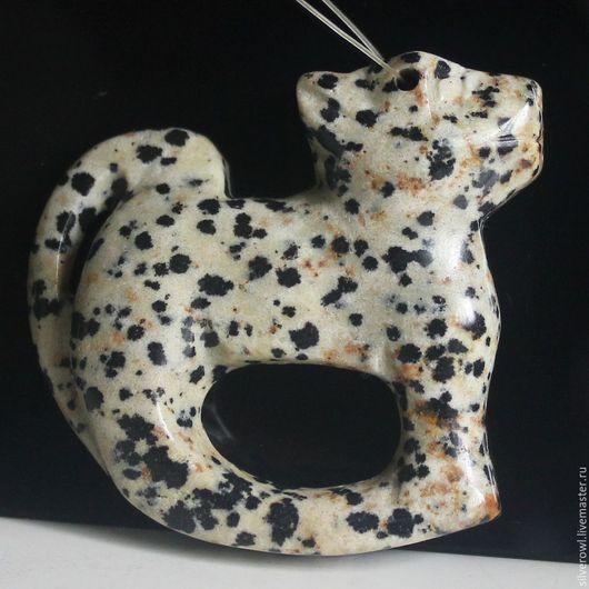 """Для украшений ручной работы. Ярмарка Мастеров - ручная работа. Купить Кулон из яшмы """"Собака"""". Handmade. Комбинированный, кулон из камня"""