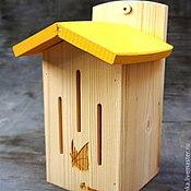 """Для домашних животных, handmade. Livemaster - original item Домик для бабочек """"Жёлтый"""". Handmade."""