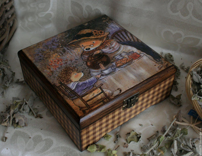Декупаж шкатулки и коробочки