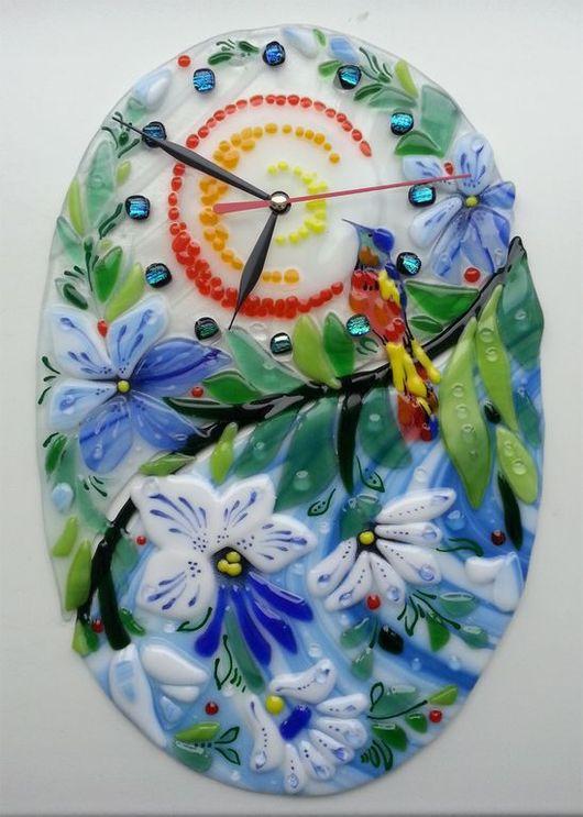"""Часы для дома ручной работы. Ярмарка Мастеров - ручная работа. Купить Часы """" Песенка райской птички"""". Handmade."""