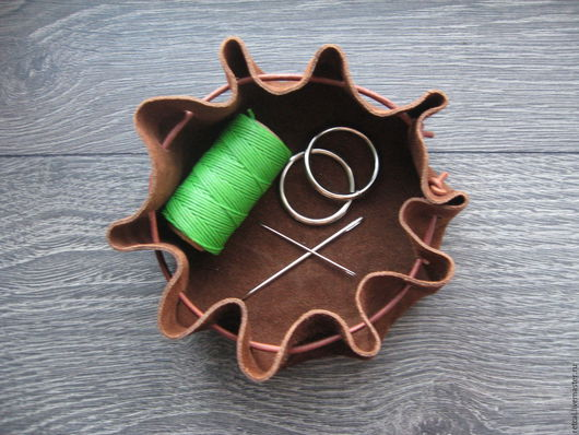 Корзины, коробы ручной работы. Ярмарка Мастеров - ручная работа. Купить Little brown bag. Handmade. Коричневый, хранение мелочей