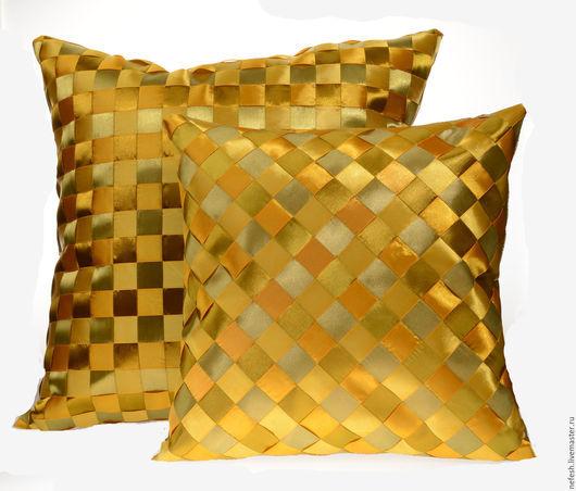 Текстиль, ковры ручной работы. Ярмарка Мастеров - ручная работа. Купить декоративная подушка Интерьерная подушка Желтый купить в подарок. Handmade.