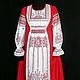 """Платья ручной работы. Ярмарка Мастеров - ручная работа. Купить """"Любовь и гармония"""" платье льняное. Handmade. Ярко-красный"""