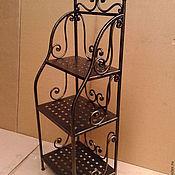 Для дома и интерьера ручной работы. Ярмарка Мастеров - ручная работа Кованая этажерка. Handmade.