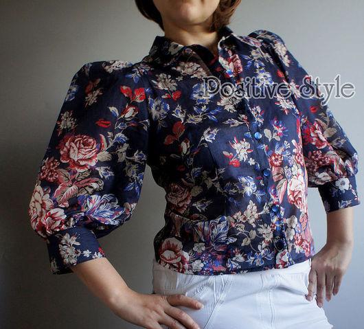 """Блузки ручной работы. Ярмарка Мастеров - ручная работа. Купить Блузка """"СТЭЙСИ"""". Handmade. Цветочный, женская одежда"""