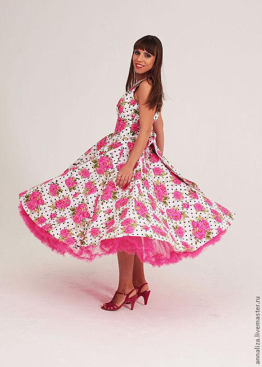 """Платья ручной работы. Ярмарка Мастеров - ручная работа. Купить Ретро платье в стиле 50-х  """"Горошек душистый"""". Handmade."""