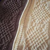 Blanket handmade. Livemaster - original item Plaid knitted large handmade bedspread/Comforter Royal.. Handmade.