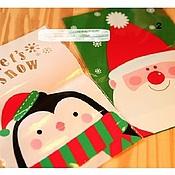 Пакеты ручной работы. Ярмарка Мастеров - ручная работа Новогодний пакет для упаковки  подарка. 2 вида.. Handmade.