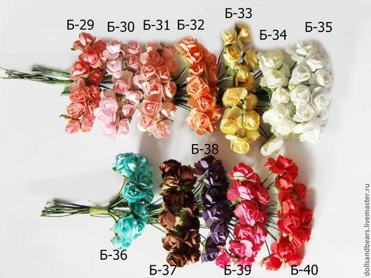 Куклы и игрушки ручной работы. Ярмарка Мастеров - ручная работа. Купить Букет из 12 роз , диаметр 1см. Handmade. Цветы