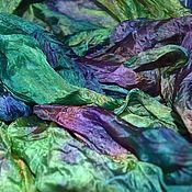 Аксессуары handmade. Livemaster - original item Silk scarf stole female multi-colored. Handmade.