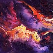 Картины и панно handmade. Livemaster - original item Abstract impasto original oil painting on canvas. Handmade.
