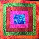 """Текстиль, ковры ручной работы. """"Излучение  радости"""" лоскутный  коврик,  йога-мат. Лоскутное одеяло (quiltlada). Ярмарка Мастеров. Лоскутное"""