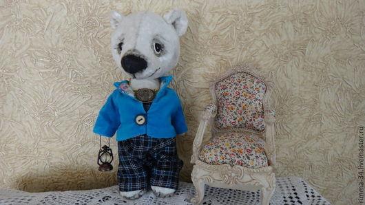 Мишки Тедди ручной работы. Ярмарка Мастеров - ручная работа. Купить Медвежонок  Серенька. Handmade. Медвежонок, плюш винтажный, шарниры