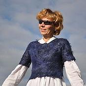 """Одежда ручной работы. Ярмарка Мастеров - ручная работа Валяный бохо- топ """" Blue"""". Handmade."""