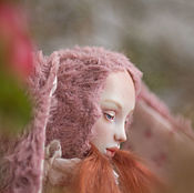 Куклы и игрушки handmade. Livemaster - original item Teddy-doll Zoe with a porcelain face in a single copy. Handmade.