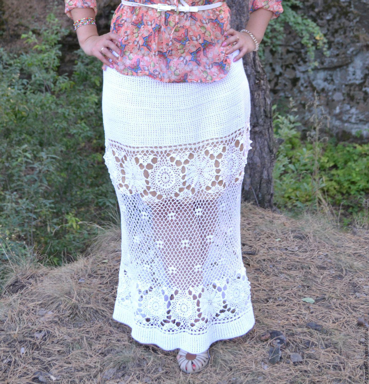 Вязаные летние юбки доставка