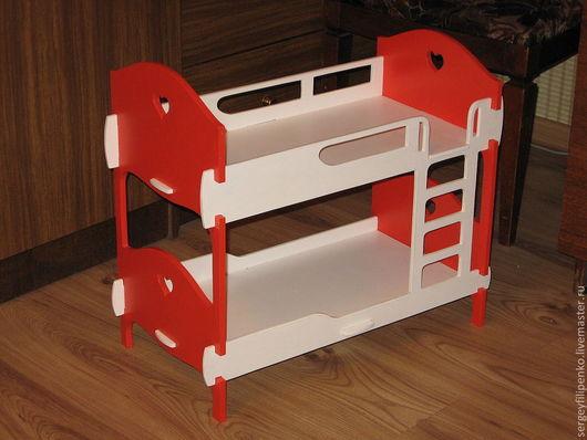 Кукольный дом ручной работы. Ярмарка Мастеров - ручная работа. Купить кроватка двухэтажная. Handmade. Кукольная кровать, кукольный домик