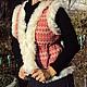 """Жилеты ручной работы. Ярмарка Мастеров - ручная работа. Купить Жилетка с опушкой """"Красные алатыри и белый мех"""". Handmade. Орнамент"""