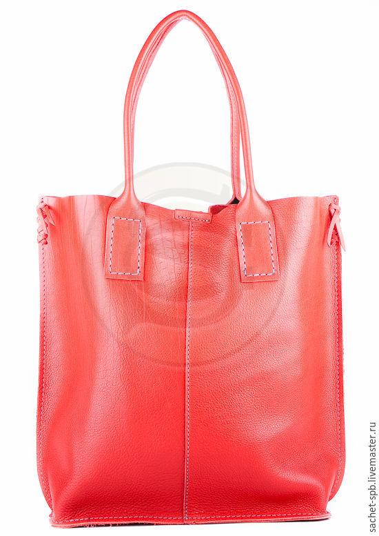 Womens leather handbag Julia red, Classic Bag, St. Petersburg,  Фото №1