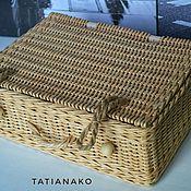 Сундучки ручной работы. Ярмарка Мастеров - ручная работа Сундучок плетёный. Handmade.