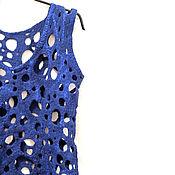 Одежда handmade. Livemaster - original item Fishnet vest and felted of wool and silk. Handmade.