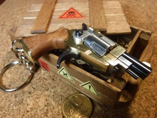 """Брелоки ручной работы. Ярмарка Мастеров - ручная работа. Купить Револьвер брелок """"№5"""". Handmade. Оружие, 23 февраля, алюминий"""