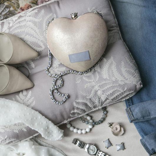 """Женские сумки ручной работы. Ярмарка Мастеров - ручная работа. Купить Клатч """"PrincessHeart"""". Handmade. Бледно-розовый, клатч, модный"""