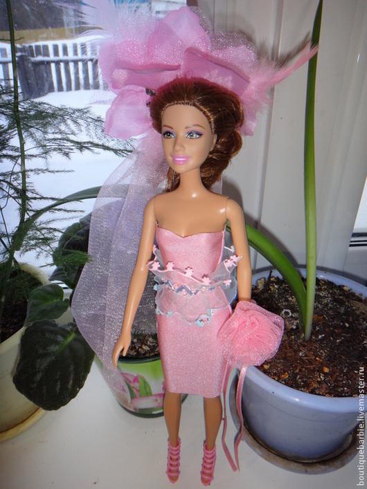 Одежда для кукол ручной работы. Ярмарка Мастеров - ручная работа. Купить Платье-трансформер для куклы Барби. Handmade. Розовый, органза