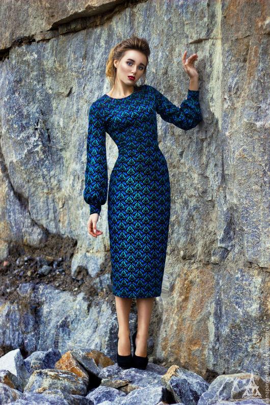 Платья ручной работы. Ярмарка Мастеров - ручная работа. Купить Платье из джерси. Handmade. Комбинированный, купить платье, пошив на заказ