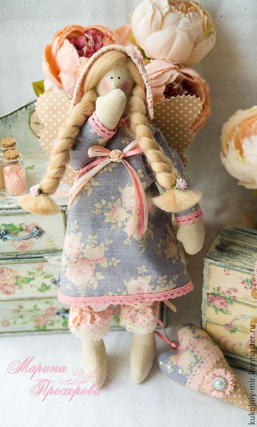 Куклы Тильды ручной работы. Ярмарка Мастеров - ручная работа. Купить Ангел сладких снов в стиле Тильда. Handmade. Голубой