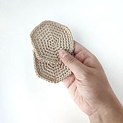 Маски ручной работы. Ярмарка Мастеров - ручная работа Многоразовый диск для снятия макияжа. Handmade.