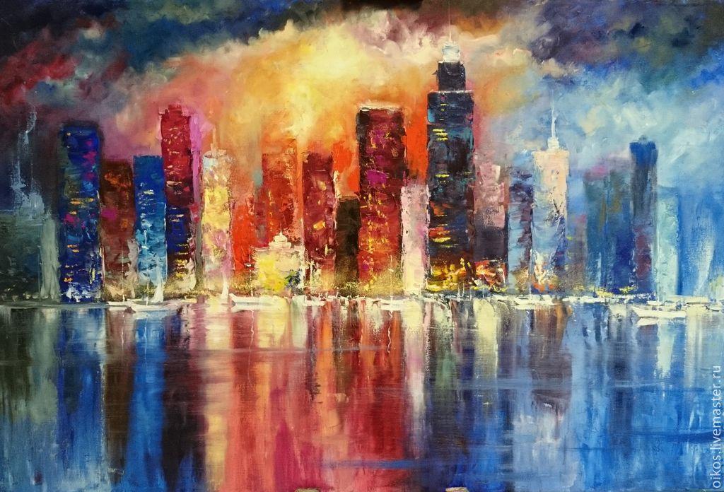 Картины ночного города
