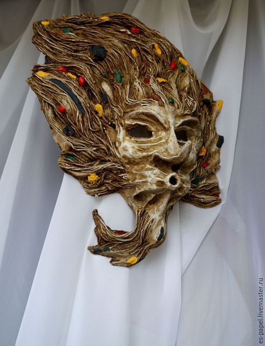 Интерьерные  маски ручной работы. Ярмарка Мастеров - ручная работа. Купить Бог ветра Стрибог. Handmade. Маска, мифическое существо