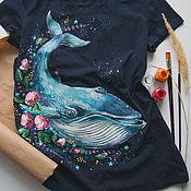 Одежда handmade. Livemaster - original item Sperm Whale T-Shirt. Handmade.