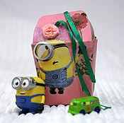 Сувениры и подарки ручной работы. Ярмарка Мастеров - ручная работа Коробка подарочная для девочек Миньон с цветком. Handmade.