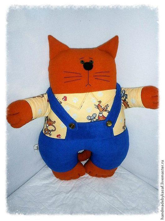 Текстиль, ковры ручной работы. Ярмарка Мастеров - ручная работа. Купить Подушка игрушка Красавец мужчина. Handmade. Кот, котик