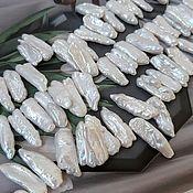 Материалы для творчества handmade. Livemaster - original item 1 PCs. Pearls Biwa Natur. 18-25h6-9 mm AA white (4509). Handmade.