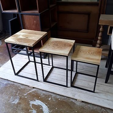 Мебель ручной работы. Ярмарка Мастеров - ручная работа Столы лофт. Handmade.