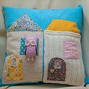 Для дома и интерьера ручной работы. Ярмарка Мастеров - ручная работа Набор подушек Домики с совушкой. Handmade.