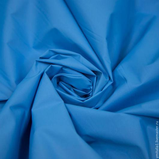 Шитье ручной работы. Ярмарка Мастеров - ручная работа. Купить Плащевая,курточная ткань MONCLER  ярко-голубая. Handmade.