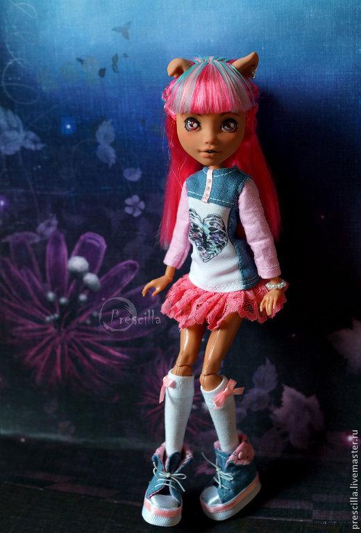 Коллекционные куклы ручной работы. Ярмарка Мастеров - ручная работа. Купить OOAK Монстер хай Хоулин 13 желаний. Handmade.