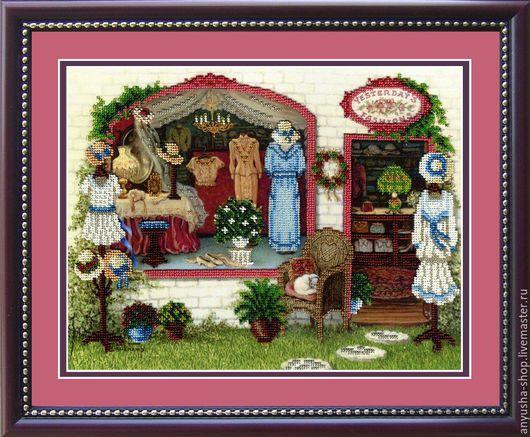 """Вышивка ручной работы. Ярмарка Мастеров - ручная работа. Купить Набор для вышивания бисером """"Модный бутик"""". Handmade. Коралловый"""