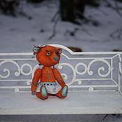 Куклы и игрушки ручной работы. Ярмарка Мастеров - ручная работа Мини-мишка Апельсинка. Ед.экземпляр.. Handmade.