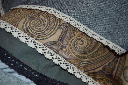 """Юбки ручной работы. Ярмарка Мастеров - ручная работа. Купить """"ВЕДьМА"""" двухсторонняя двухслойная теплая юбка. Handmade. Серый"""