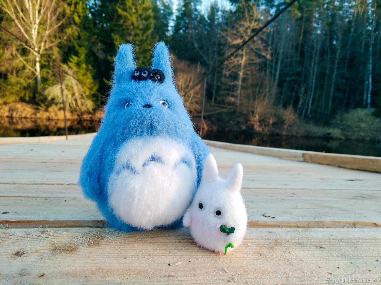 лесные духи Тоторо, Войлочная игрушка, Вышний Волочек,  Фото №1